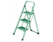 STEP LADDER 3 TREAD WHITE/BLUE