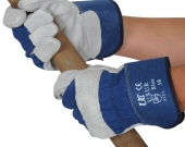 GLOVE RIGGER H/DUTY BLUE /RED