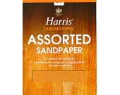 SAND PAPER ASSORTED 4PK    HARRIS
