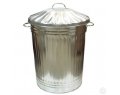 DUSTBIN GALVANISED WITH LID     +