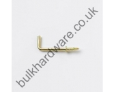 DRESSER HOOK BRASS 38MM 100 A033