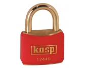PADLOCK 40MM BRASS SHACKLE RED
