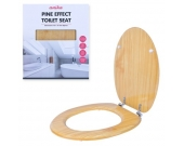 TOILET SEAT WOOD EFFECT PINE