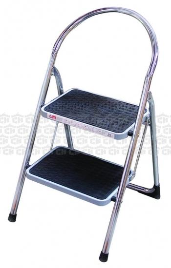Fantastic Castle Hardware Abru Step Stool Chrome 2 Tread 6 021 Bralicious Painted Fabric Chair Ideas Braliciousco